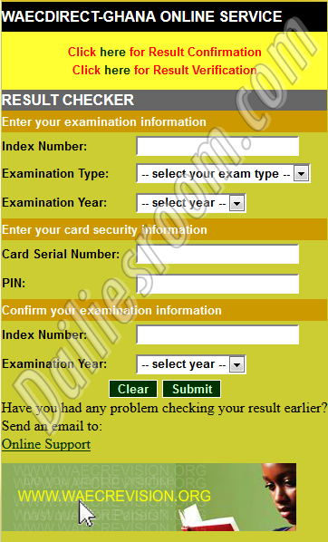 BECE Result Portal For Online Result Checker - www.ghana.waecdirect.org