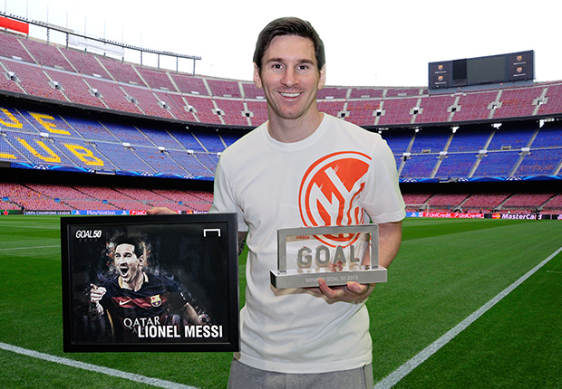 Lionel Messi wins Goal 50 Award