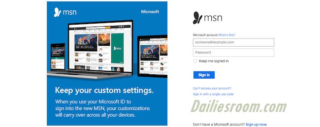 www.msn.com Email Sign Up Page   MSN Login