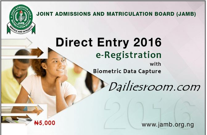 JAMB Direct Entry 2016 e-Registration Form - Scratch card