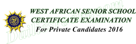 2016 WAEC GCE Online Registration For Private Candidates