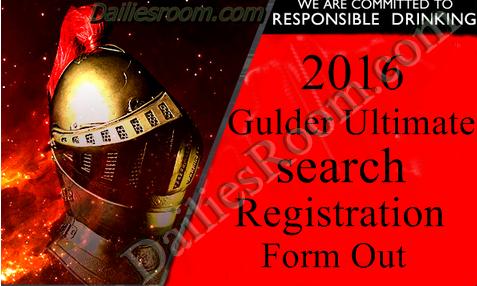 Gulder Ultimate search 2016 Registration form Out?