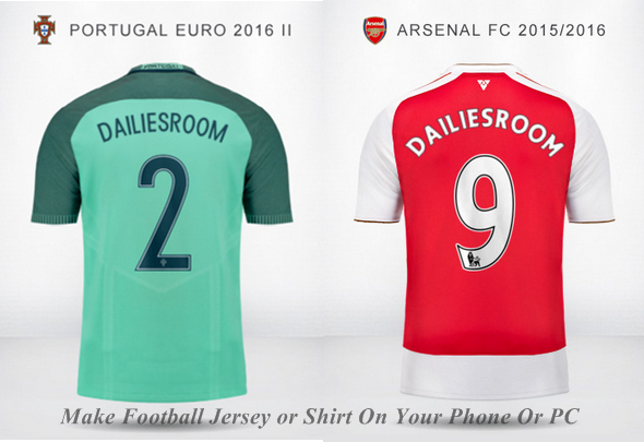 How To Make Football Jersey With Your Phone Or PC ...