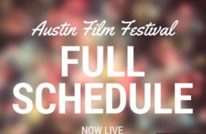 2016 Austin Film Festival Full Schedule Announce - AFF Full Film & Schedule 2016