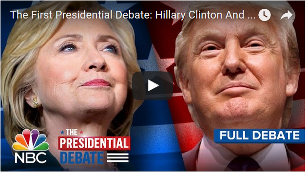 The American Presidential 1st Debate Video / Schedule - Hillary Clinton and Donald Trump