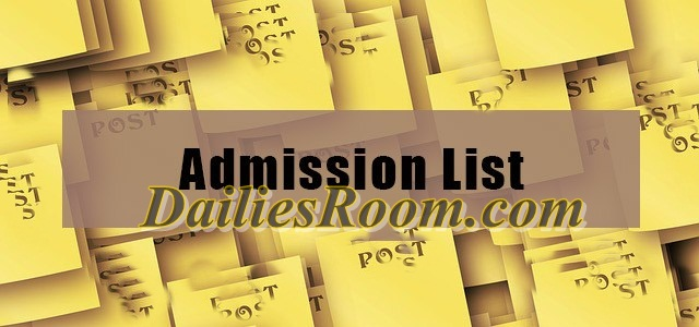 Institutions that have released admission list | Admission 2016