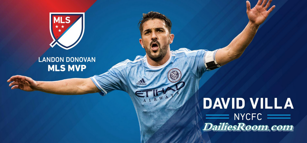 "David Villa wins MLS MVP award : ""I'm very proud to receive this award"""