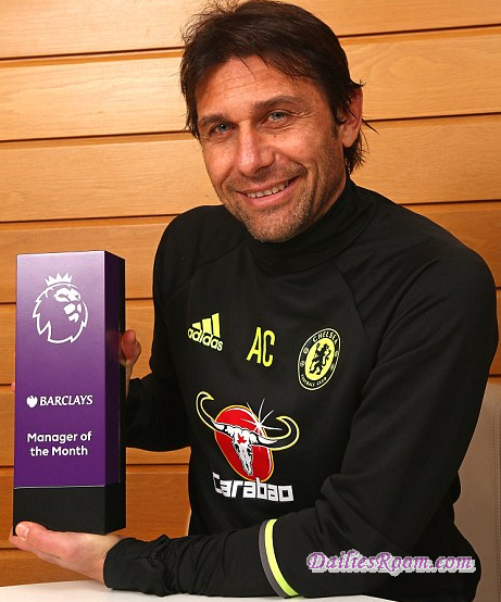 Premier League Manager Of the Month | Conte Wins EPL Manager Three times in a row