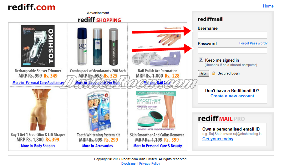 Rediffmail Login New Account | Rediffmail Sign Up - www.rediffmail.com