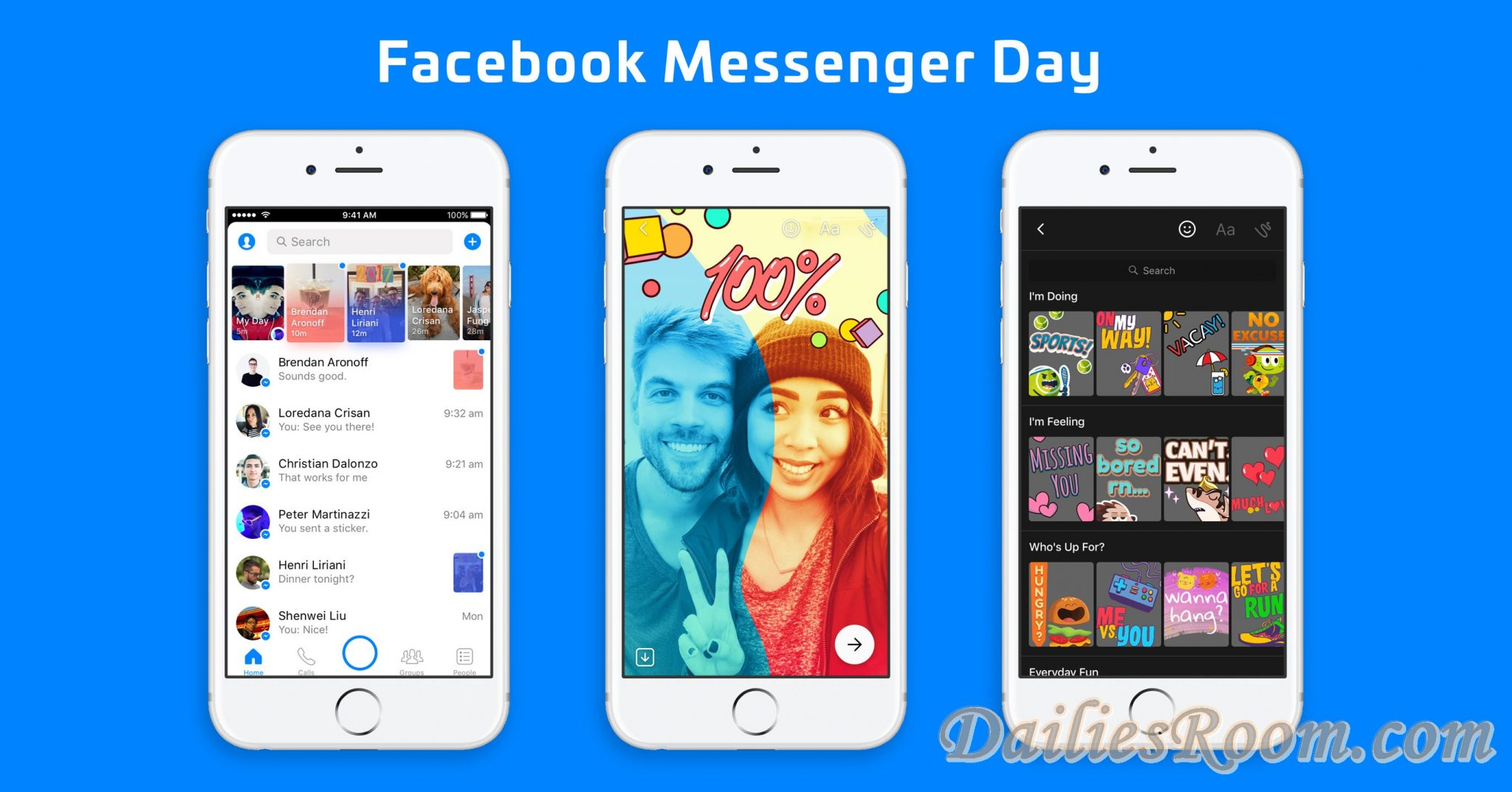 Introducing Facebook New Messenger Day for iOS, Android   It's Version Of SnapChat