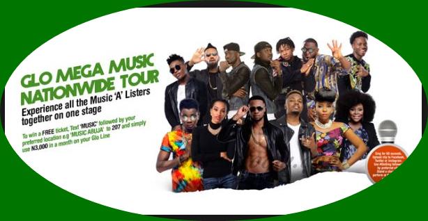 Glo Mega Music Tour Venue/Date & Location | Wizkid, Runtown, P-Square