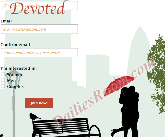 www.devoted.singles - Devoted online Dating Site free Registration/Signup