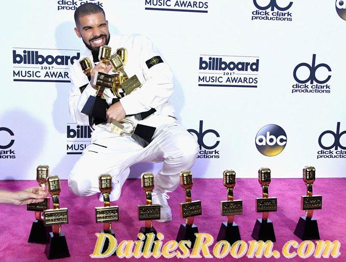 Categories of 2017 BillBoard Music Awards won by DRAKE