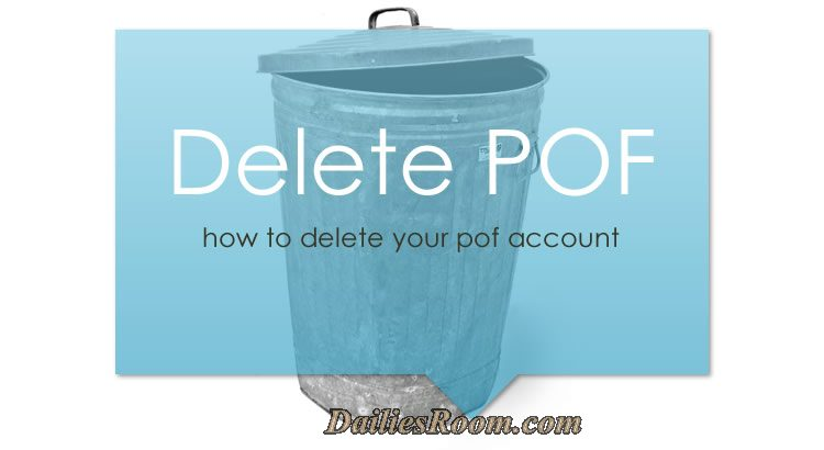 How to delete your profile on delete hide www for Plenty of fish delete account