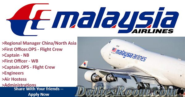 Apply For Malaysia Airlines Job Opportunities - www.malaysiaairlines.com