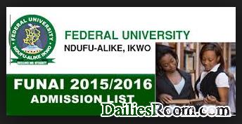 How to Check Funai Admission List for 2017/18 - admission.funai.edu.ng/