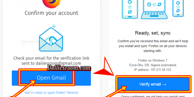 Create a Firefox Account for Firefox Sync