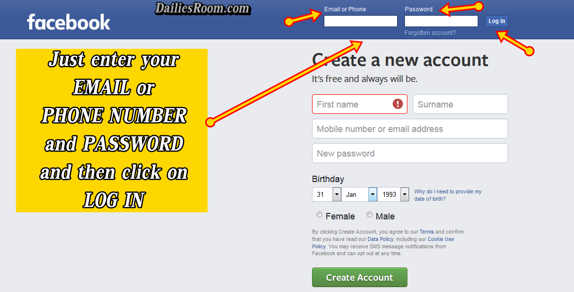 how to create fb account 2018