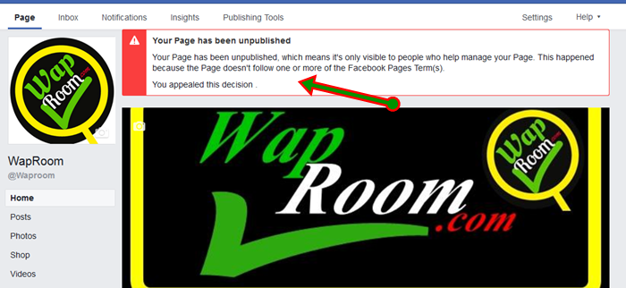 How to Appeal & Recover Unpublished Facebook Page If Not Visible To Public
