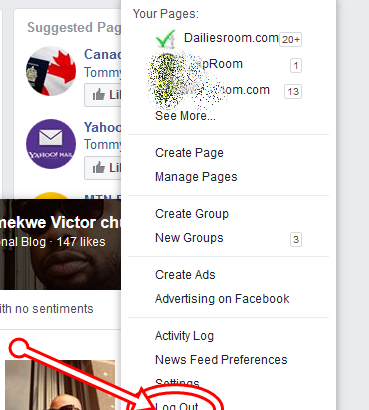 How to Log Out from www.Facebook.com Account - FB logout Guide