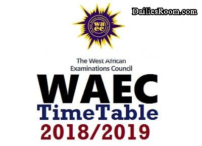 2018/2019 WAEC Timetable | May/June SSCE Examination
