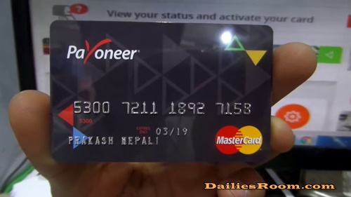 How To Activate Payoneer Prepaid Card - www.payoneer.com