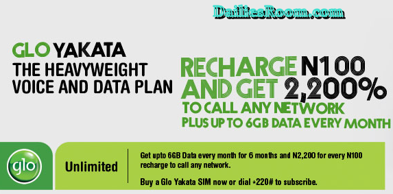 Glo Yakata Prepaid Plan Subscription - Glo Yakata Code For 6GB Data