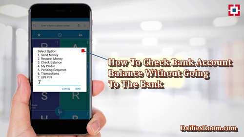 How To Check Bank Account Balance Without Going To The Bank