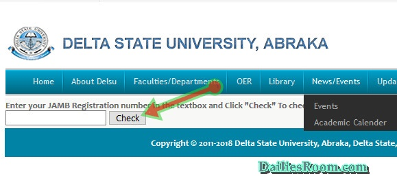 How To Check Delsu Admission List 2018 - Delsu.edu.ng Admission Status