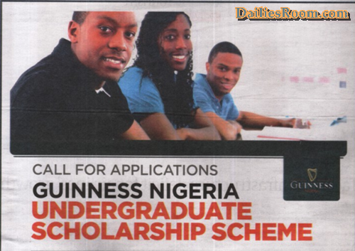 2019 Guinness Nigeria Undergraduate Scholarship Application