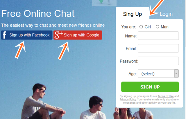 Free Online ChatBlink Sign Up For Chatblink Talk To Strangers Access
