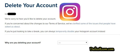 How To Delete Instagram Account - Deactivate Instagram Page