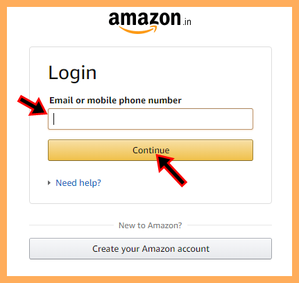 Login Amazon With Facebook Account on www.amazon.in Signup/Login Page