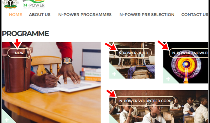 Application Registration Form at portal.Npower.gov.ng for Npower Recruitment