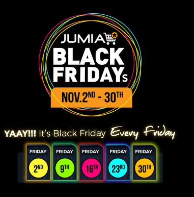 JUMIA BLACK FRIDAY Discounts, Deals & Date For November