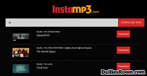 Steps To Instamp3 Songs Download On www.instamp3.zone