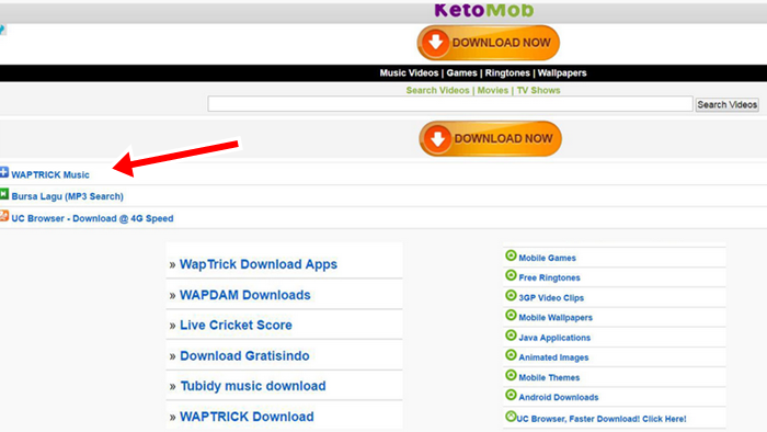 Ketomob Music Videos Download, Games, Ringtones @ www.waptrick.com MP3