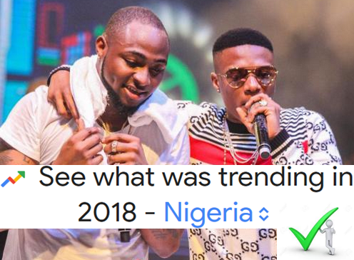 2018 Google Trending Search Lists In Nigeria - Davido, Wizkid, Falz