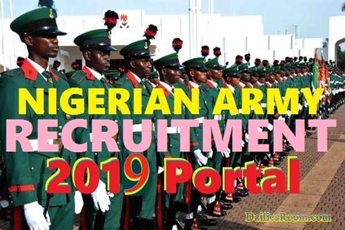 2019 Nigerian Army Recruitment For Trades/Non-Tradesmen & Women