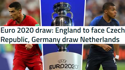 Euro 2020 Qualifying Groups Draw In Full (Euro 2020 draw)