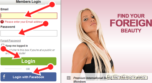 Steps To InternationalCupid Login With Facebook Or Email Address