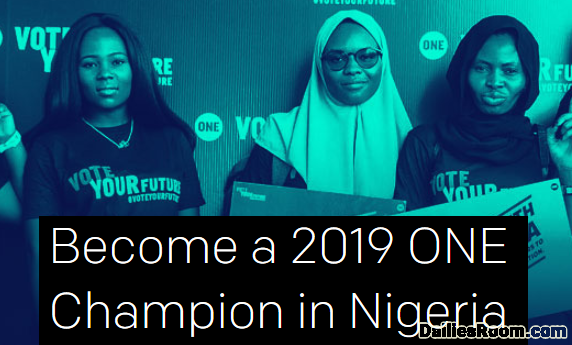 2019 ONE Champion Program Application | ONE Recruitment In Nigeria