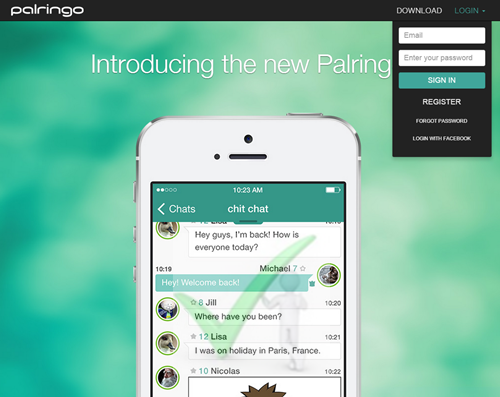 Palringo Group Messaging Sign Up | Palringo Registration