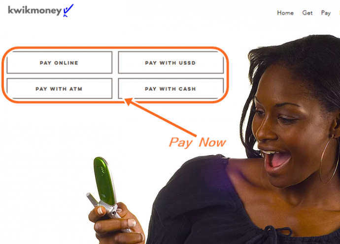 How To Pay Back Kwikmoney Loan online, with USSD, Pay with ATM & cash